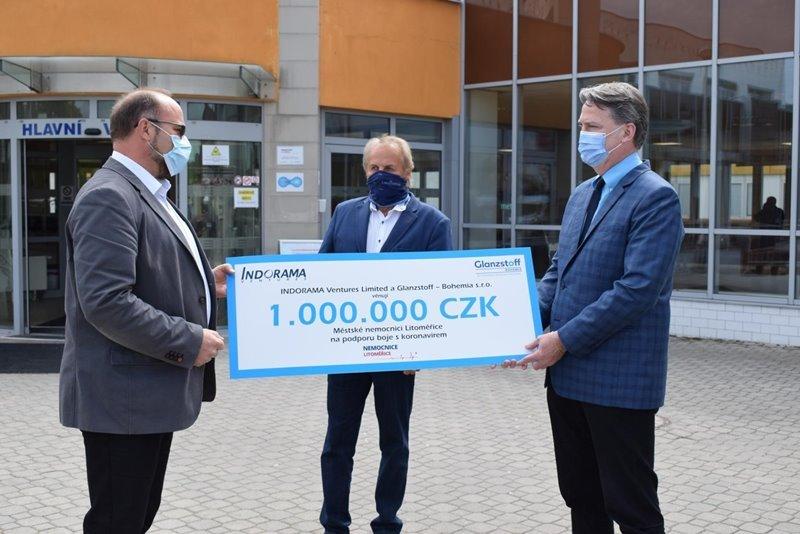 Glanzstoff Bohemia made donation to local hospital in Czech Republic amid COVID-19